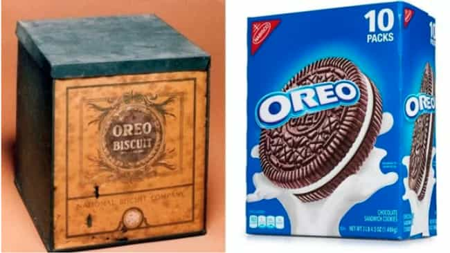 Oreo is listed (or ranked) 1 on the list Here's What Processed Food Packaging Used To Look Like
