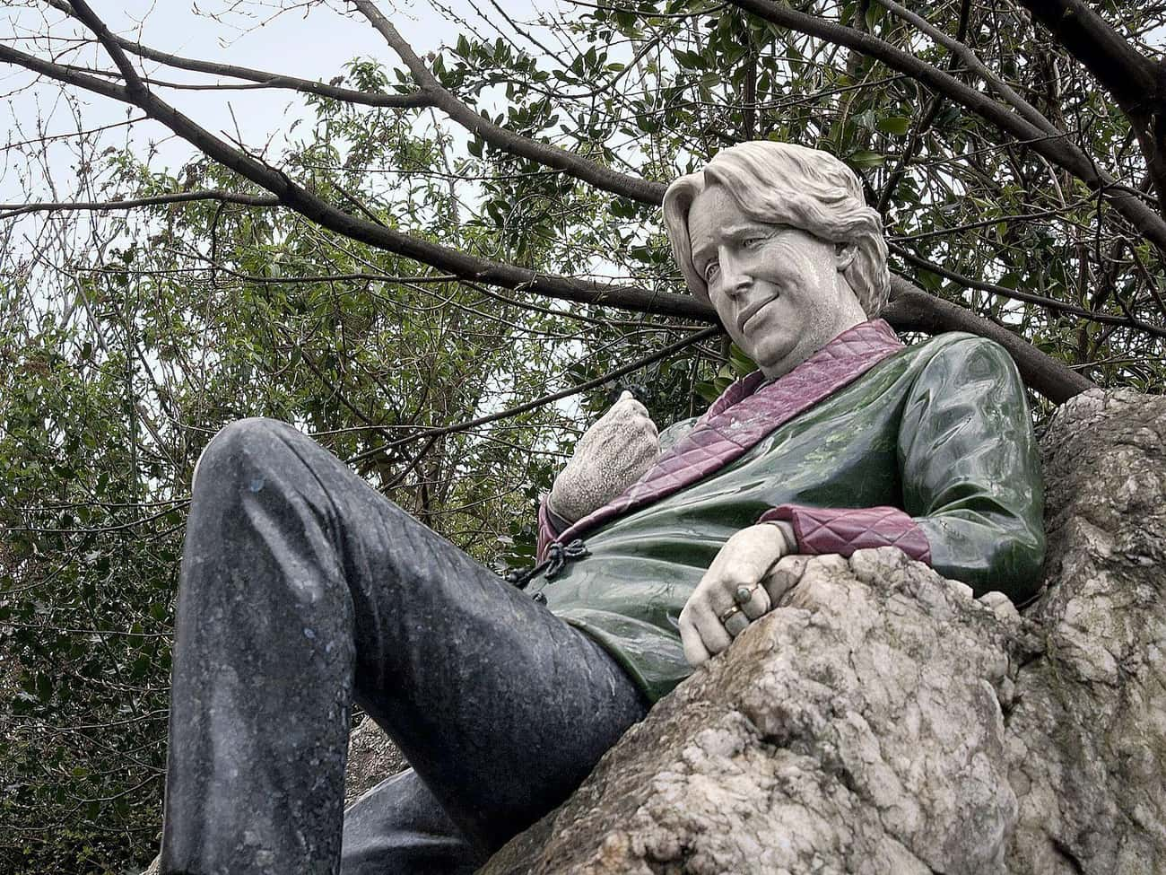 Oscar Wilde - Merrion Square,  is listed (or ranked) 3 on the list The Weirdest Statues of Celebrities