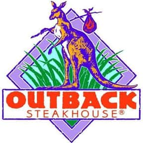 Outback Steakhouse is listed (or ranked) 5 on the list The Best American Restaurant Chains