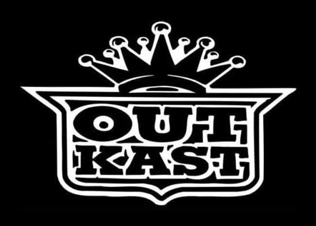 Outkast is listed (or ranked) 4 on the list The Best Hip Hop Logos Of All Time