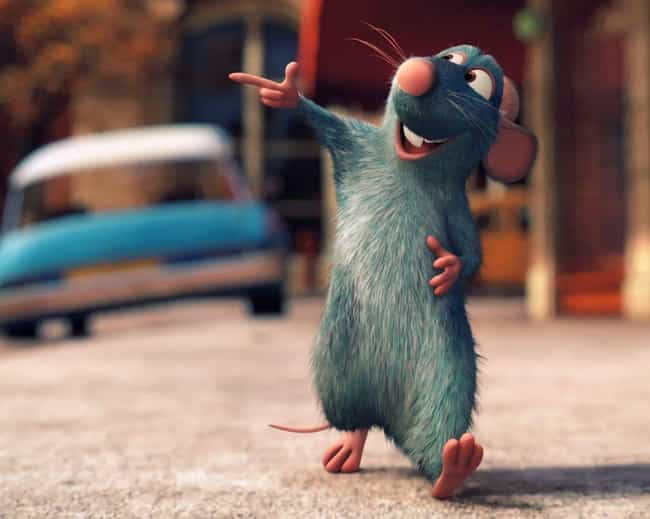 Remy is listed (or ranked) 3 on the list The Cutest Pixar Animals
