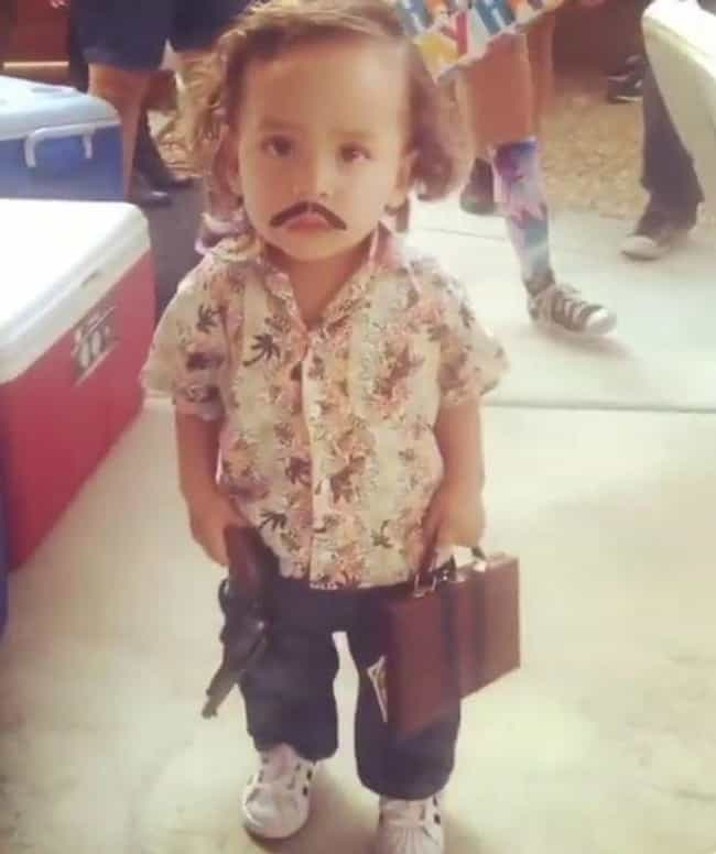 Pablo Escobar is listed (or ranked) 1 on the list 31 Kids Who Were Forced Into Amazing Halloween Costumes
