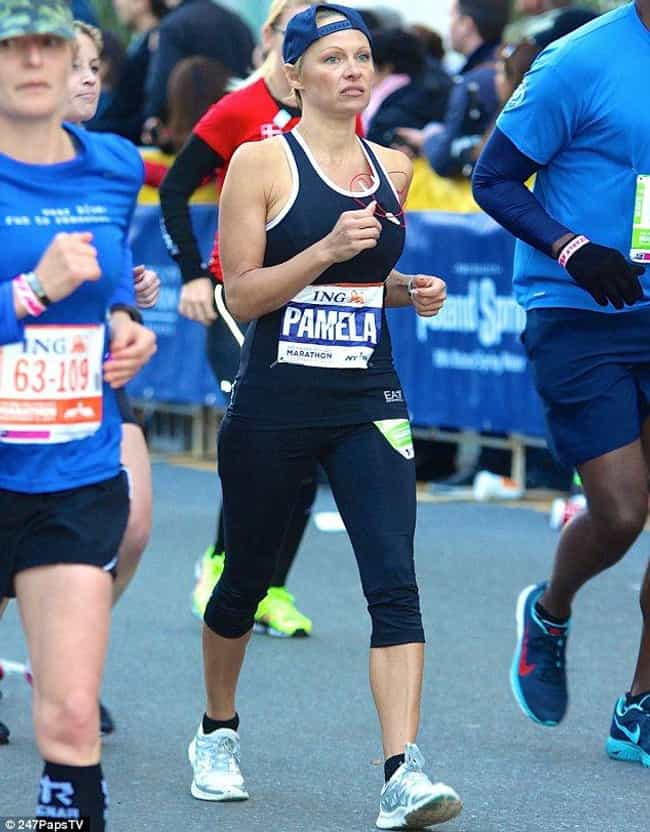 Pamela Anderson is listed (or ranked) 2 on the list Celebrities Who Have Run Marathons