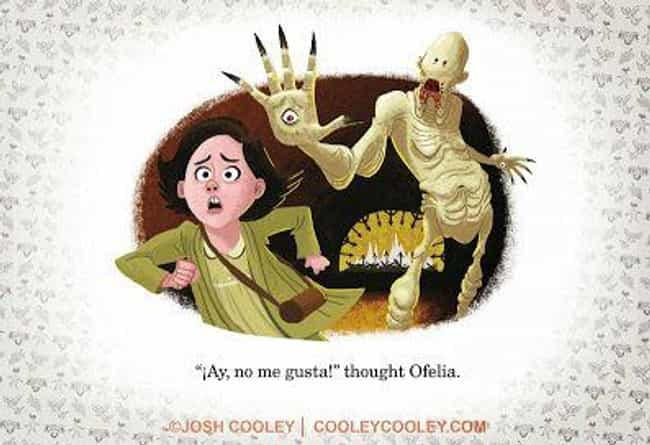 Pan's Labyrinth is listed (or ranked) 6 on the list An Artist From Pixar Transforms Your Favorite Horror Movies Into Kids' Books