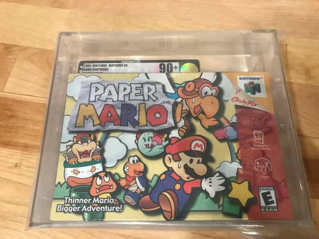 Paper Mario is listed (or ranked) 6 on the list The Most Ridiculously Valuable Nintendo 64 Games