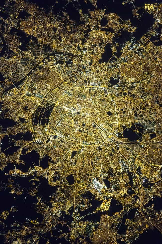 Paris is listed (or ranked) 1 on the list Cool Aerial Photos of Cities at Night