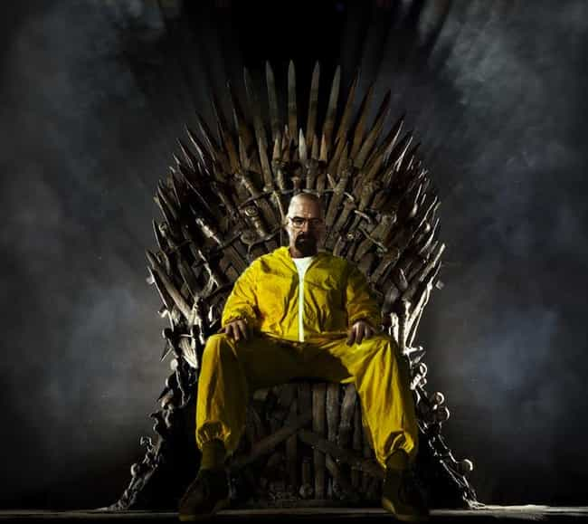 Walter White is listed (or ranked) 3 on the list 26 Famous People Sitting On The Iron Throne