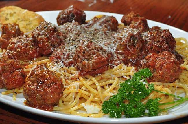 Pasta is listed (or ranked) 4 on the list Foods That Are Totally Different In The United States
