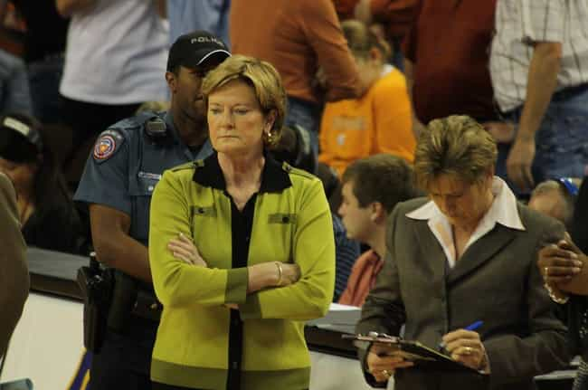 Pat Summitt is listed (or ranked) 4 on the list 33 Celebrities Who Were in Chi Omega