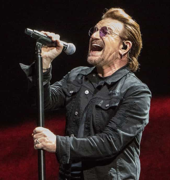 Bono is listed (or ranked) 4 on the list 19 Celebrities Who Probably Have Had Hair Transplants