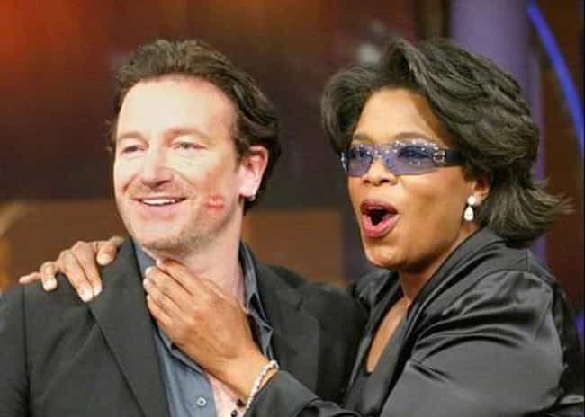Bono is listed (or ranked) 2 on the list The Many Celebrity Friends Of Oprah Winfrey