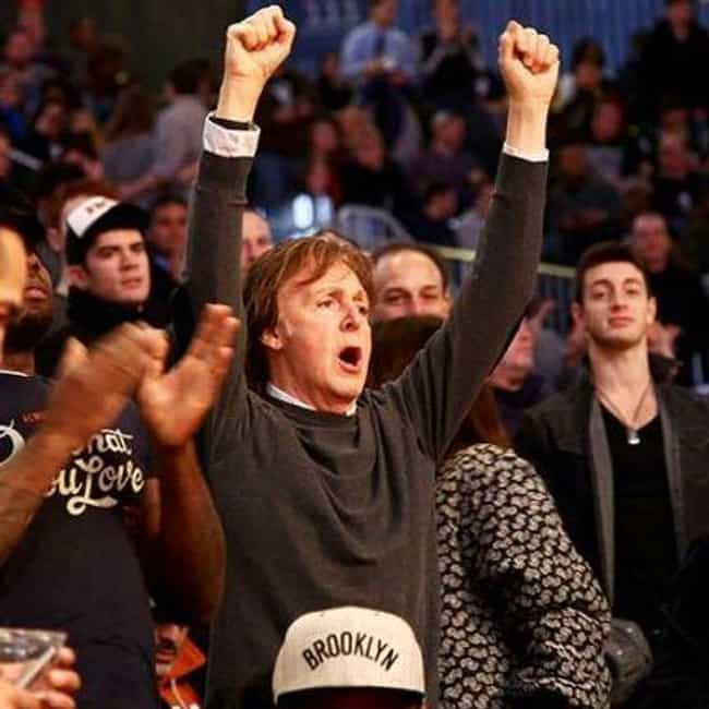 Paul McCartney is listed (or ranked) 6 on the list Celebrity Nets Fans