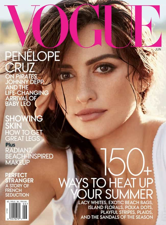 Penélope Cruz is listed (or ranked) 5 on the list The Best Vogue Magazine Covers