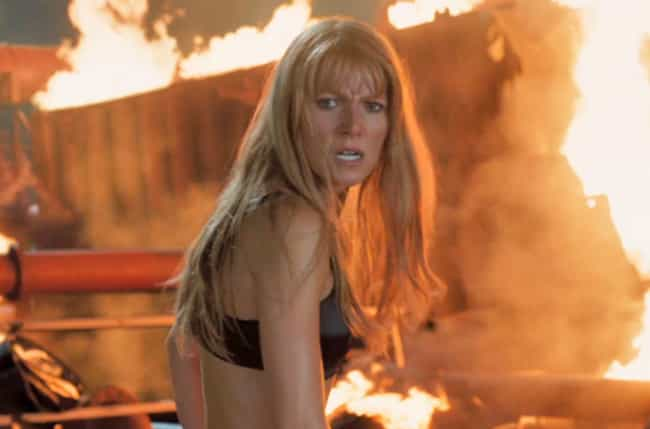Pepper Potts is listed (or ranked) 4 on the list 12 Times Female Action Stars' Clothes Ripped Off In A Sexy Way