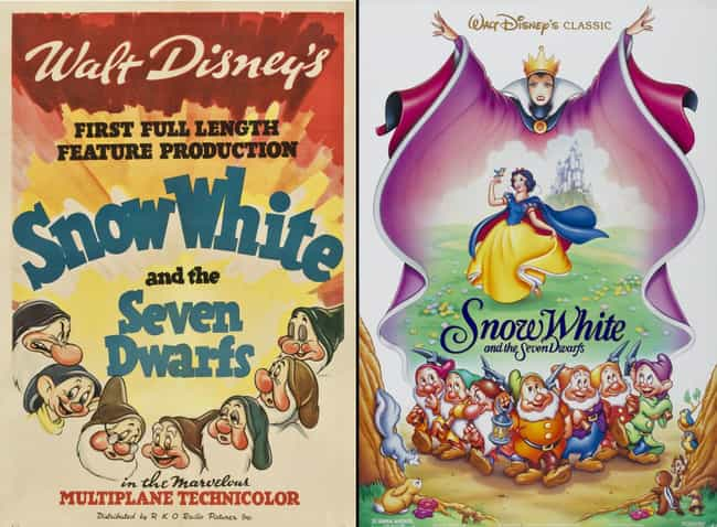 Snow White and the Seven... is listed (or ranked) 3 on the list 20 Iconic Original Disney Posters VS. Today's Re-Release Covers