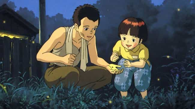 Grave of the Fireflies is listed (or ranked) 4 on the list 17 Anime Series That Will Make You Cry Like a Baby