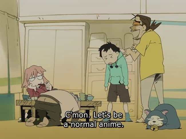 FLCL is listed (or ranked) 2 on the list 15 Meta Anime Series That Are Totally Self-Aware