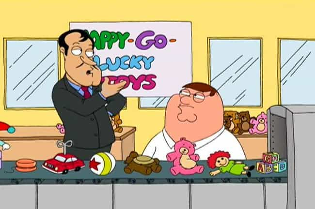 Peter Griffin is listed (or ranked) 1 on the list 10 Fictional Characters Who Are Way Richer Than You Think (And 3 Who Are Poorer)