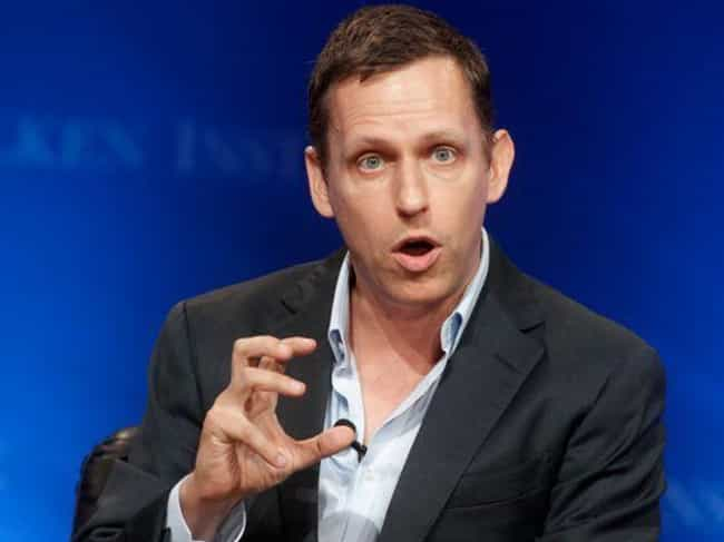 Peter Thiel is listed (or ranked) 3 on the list 10 Openly Gay Billionaires