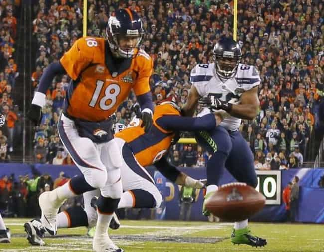 Peyton Manning is listed (or ranked) 5 on the list The Worst Super Bowl Plays of All Time