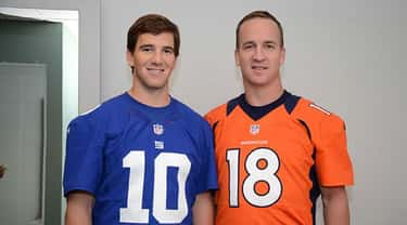 Peyton & Eli Manning is listed (or ranked) 2 on the list 14 Athletes Who Are Related
