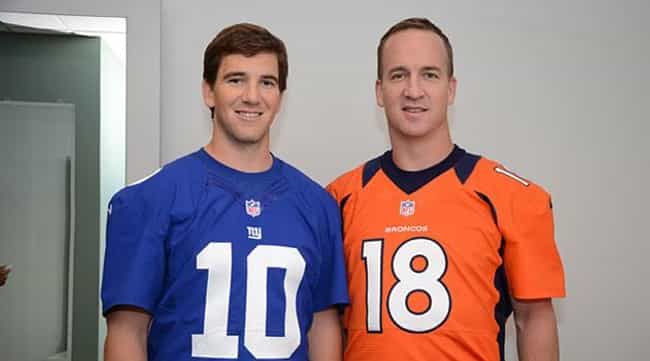 Peyton Manning is listed (or ranked) 2 on the list 14 Athletes Who Are Related