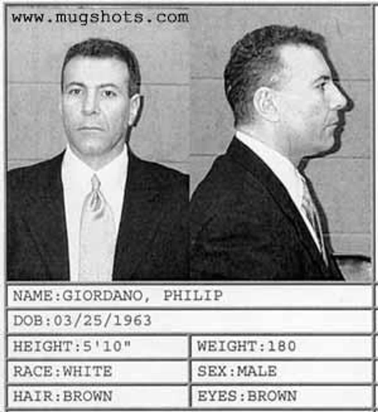 Philip Giordano is listed (or ranked) 2 on the list 19 Politicians Who Were Caught with Prostitutes