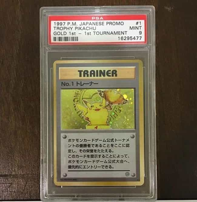 Pikachu is listed (or ranked) 3 on the list 18 Incredibly Rare Pokémon Cards That Could Pay Off Your Student Loan Debt