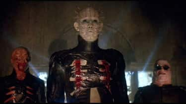 Pinhead, 'Hellraiser' is listed (or ranked) 1 on the list Which Horror Movie Villain Would Win In An All-Out Deathmatch?