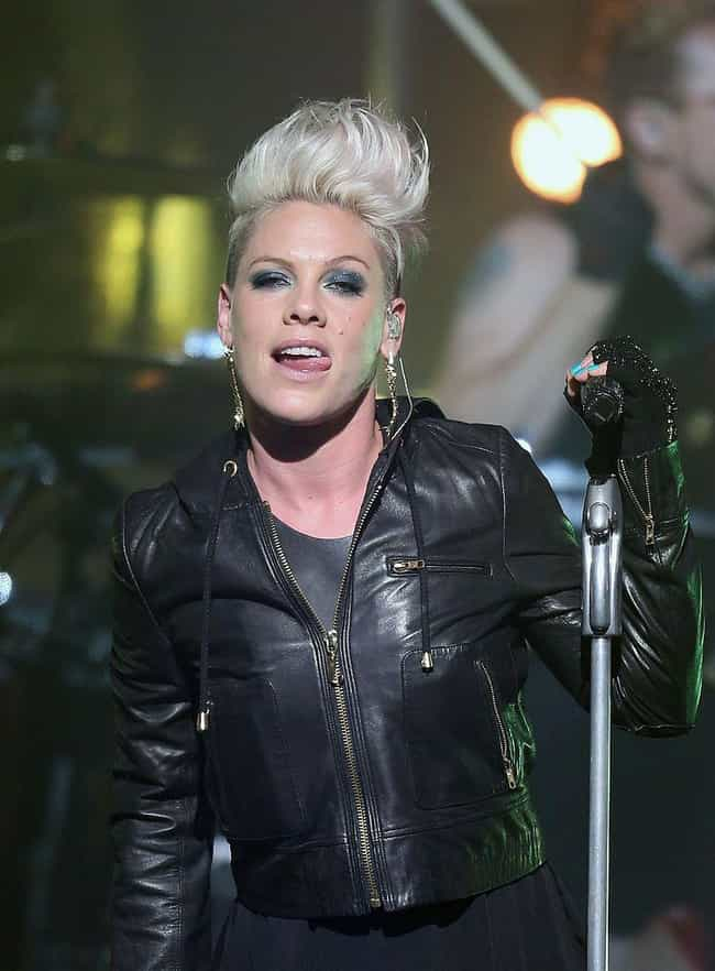 P!nk is listed (or ranked) 4 on the list 34 Celebrities Who