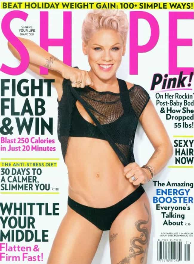 P!nk is listed (or ranked) 6 on the list 26 Celebrities Who Do P90X