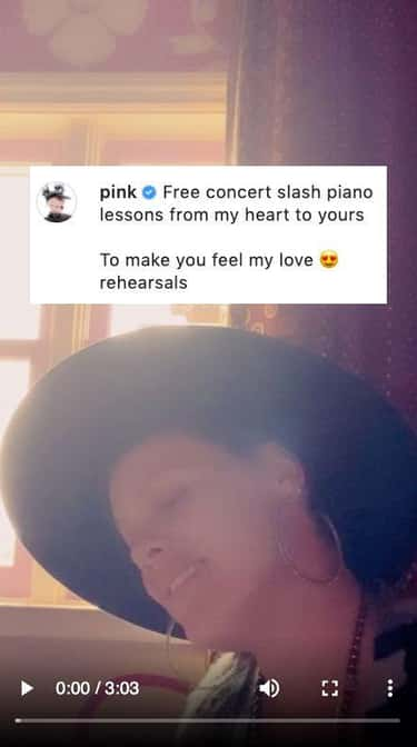 P!nk Posted A Cover Of To Make You Feel My Love