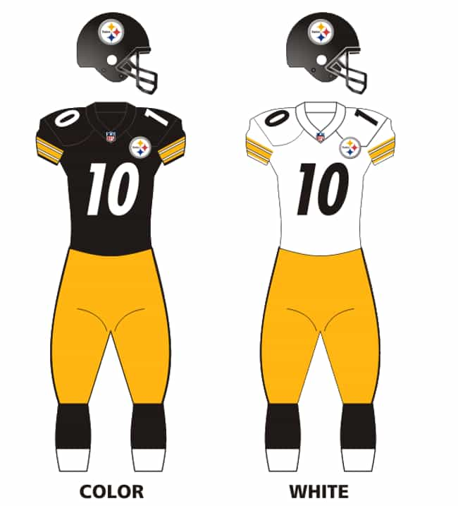 Pittsburgh Steelers is listed (or ranked) 3 on the list The Best Uniforms In The NFL