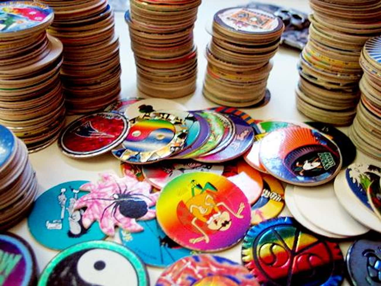 Pogs is listed (or ranked) 4 on the list The Most Worthless '90s Collectibles You Spent Money On