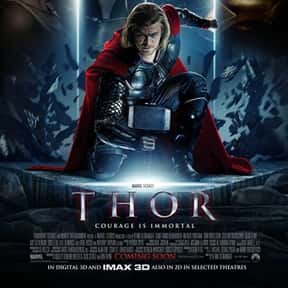Thor is listed (or ranked) 11 on the list The Best PG-13 Action Movies