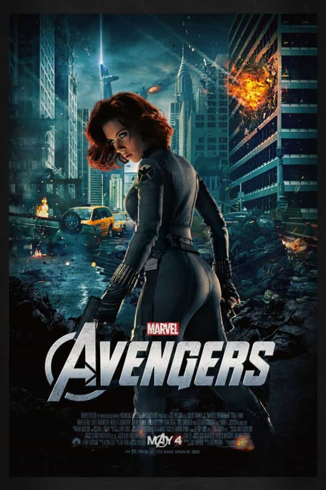 The Avengers is listed (or ranked) 1 on the list 38 Totally Gratuitous Butts In Movie Posters