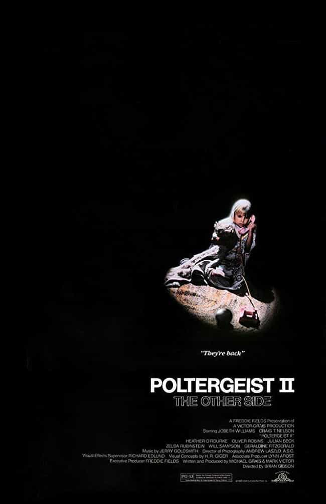 Poltergeist II: The Othe... is listed (or ranked) 2 on the list The Scariest Movies In The 'Poltergeist' Franchise