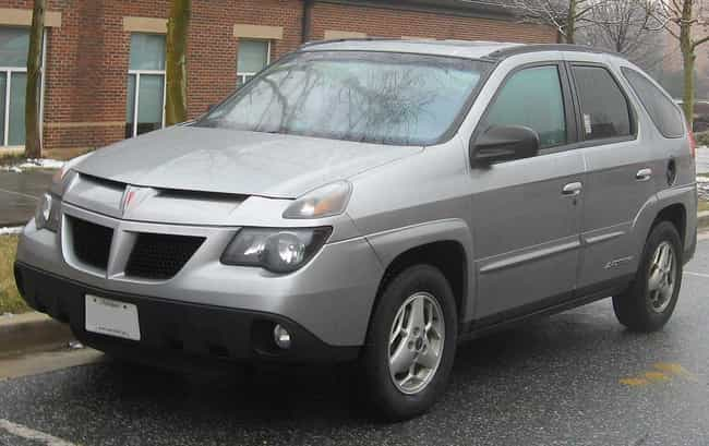 Pontiac Aztek is listed (or ranked) 1 on the list The Ugliest Cars In The World