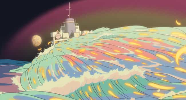 Ponyo is listed (or ranked) 4 on the list Anime With The Most Beautiful Water Animation