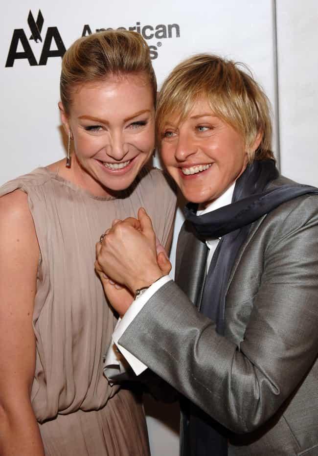 Portia de Rossi is listed (or ranked) 1 on the list Ellen DeGeneres Loves and Hookups