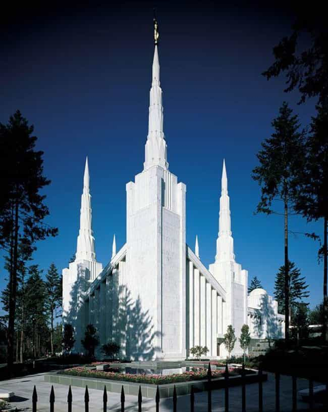 Portland Oregon Temple ... is listed (or ranked) 3 on the list The Most Beautiful Mormon Temples