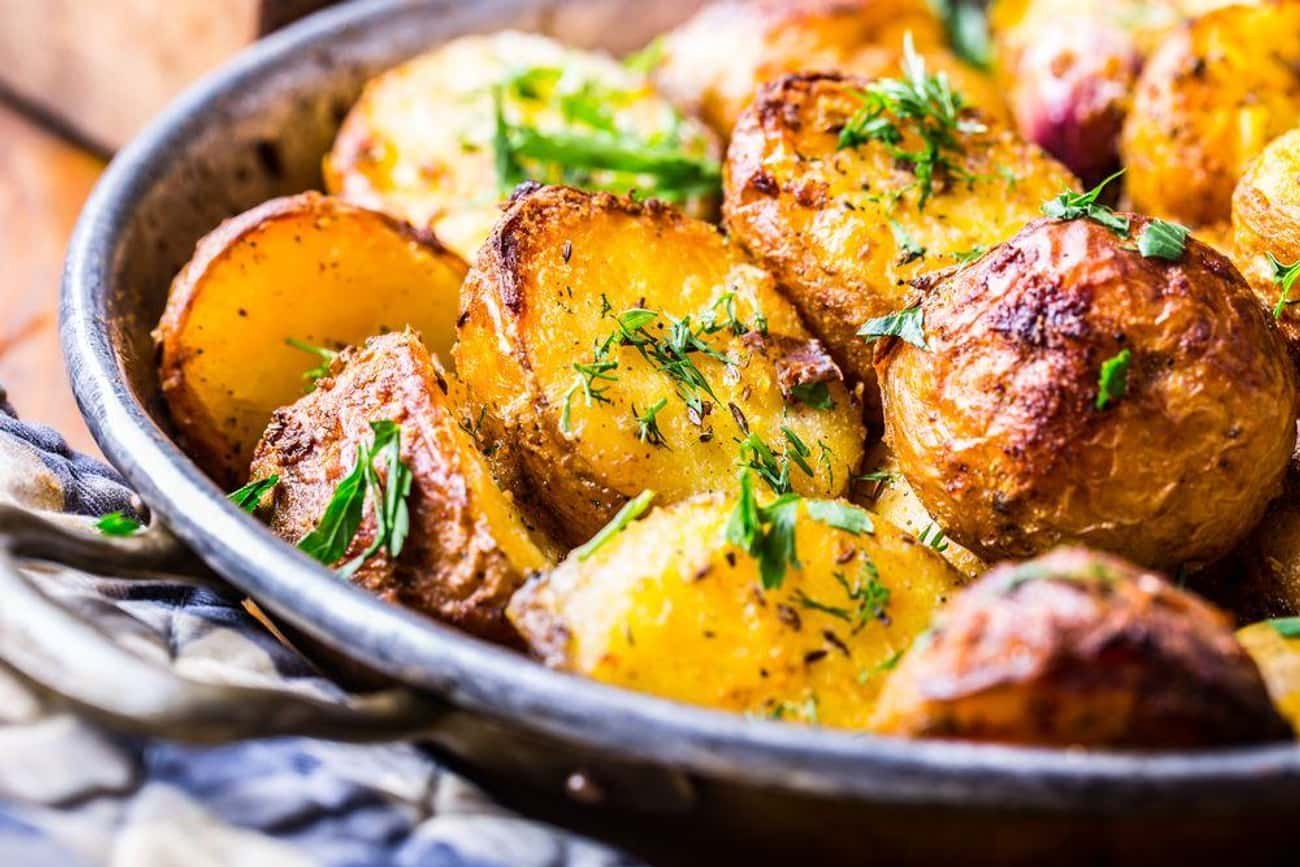 Roasting Potatoes Just Once In is listed (or ranked) 1 on the list Things You've Been Doing Wrong In The Kitchen Your Entire Life: Common Cooking Mistakes