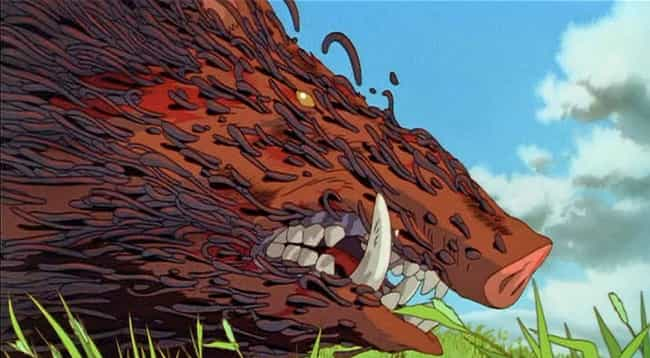 Princess Mononoke is listed (or ranked) 4 on the list The 13 Most Horrifying Moments From Non-Horror Anime
