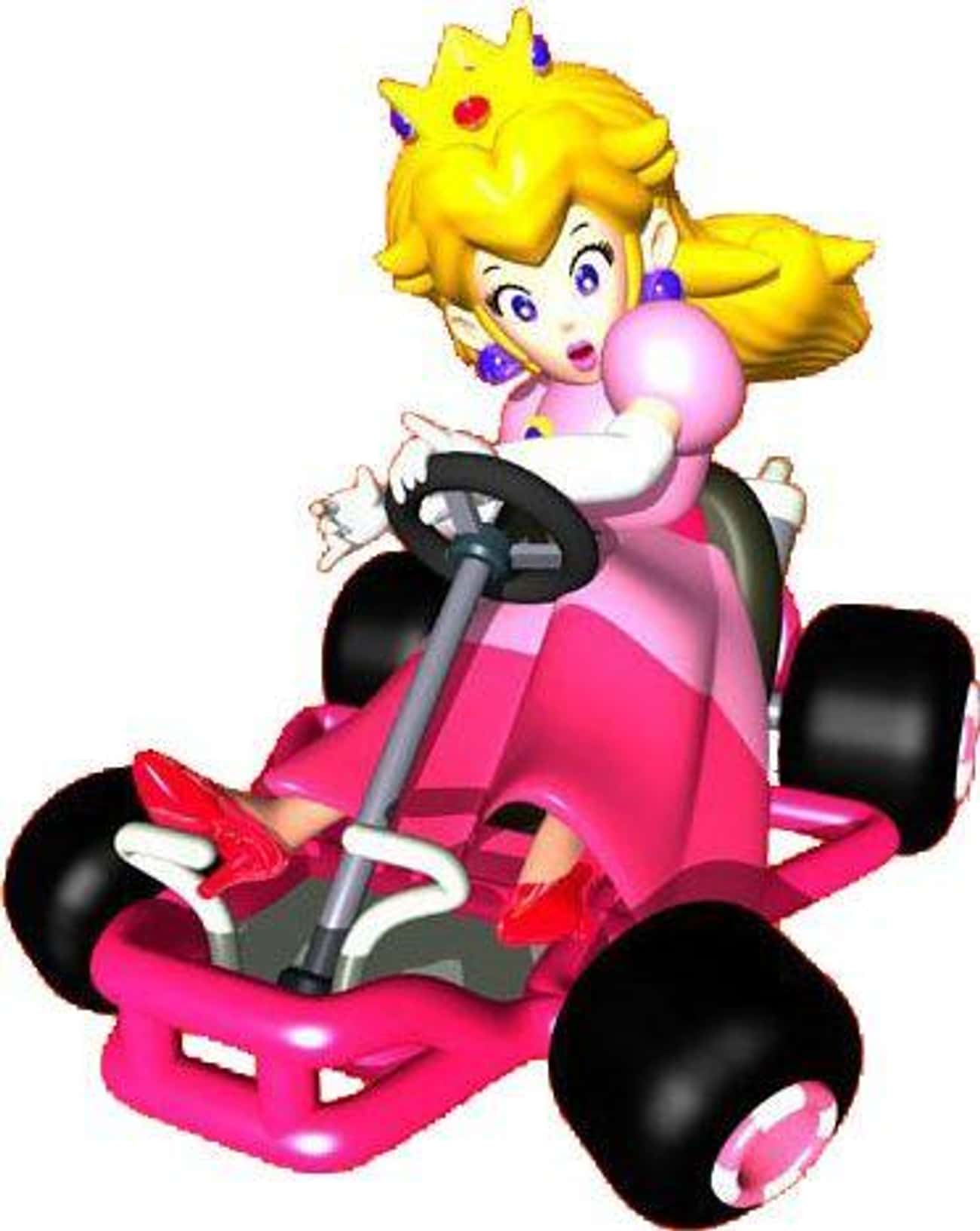 Princess Peach: Fast Out The G is listed (or ranked) 3 on the list Special Things Every Mario Kart 64 Character Does Better Than The Others