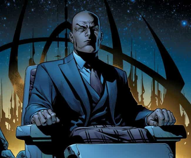 Professor X is listed (or ranked) 1 on the list The Full List of X-Men Characters & Members