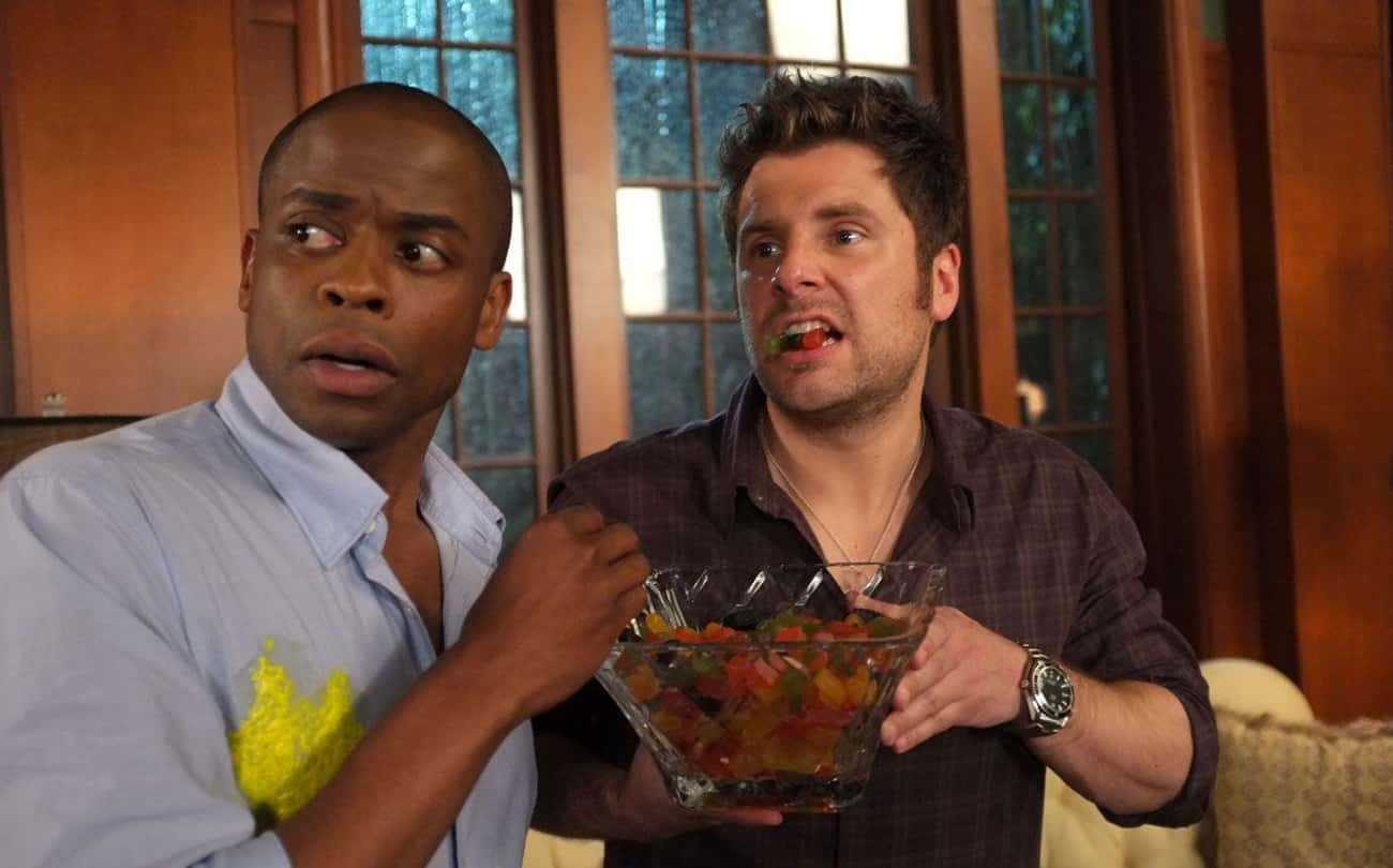 Psych is listed (or ranked) 4 on the list The Best TV Shows To Leave On In The Background