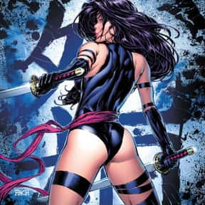 Psylocke is listed (or ranked) 11 on the list The Most Attractive Cartoon Characters Of All Time