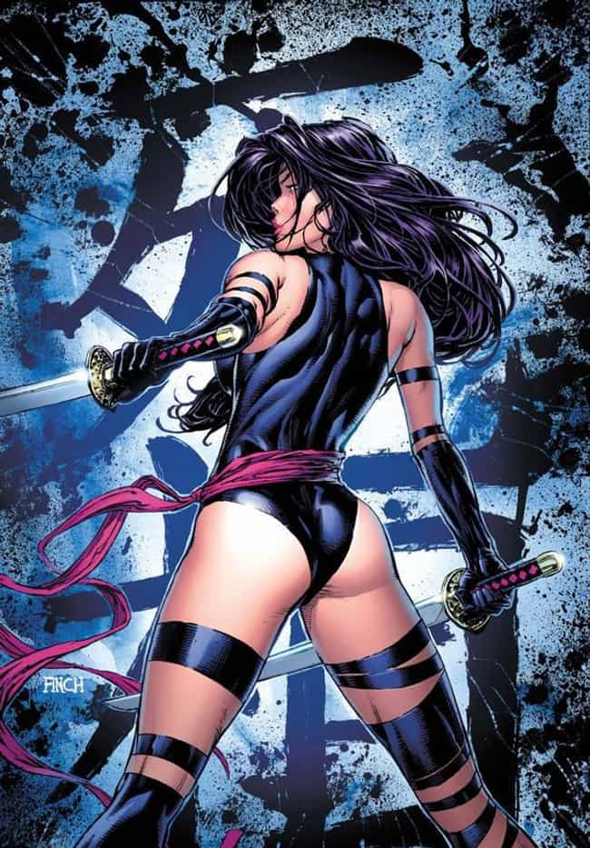 Psylocke is listed (or ranked) 3 on the list The Hottest Female Marvel Characters