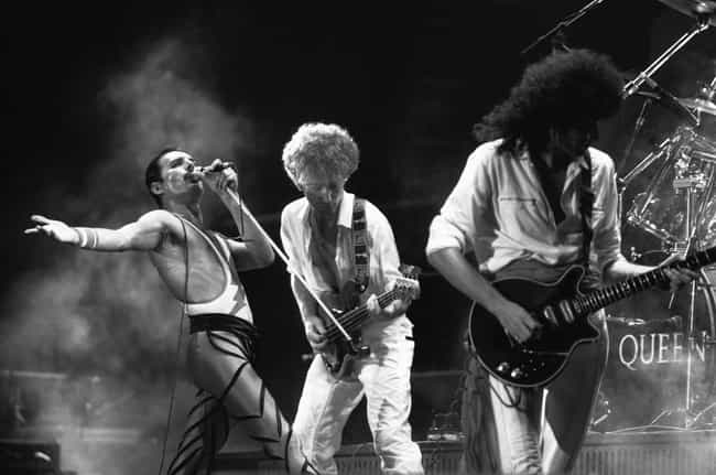 Queen is listed (or ranked) 4 on the list The Best Rock Bands of All Time