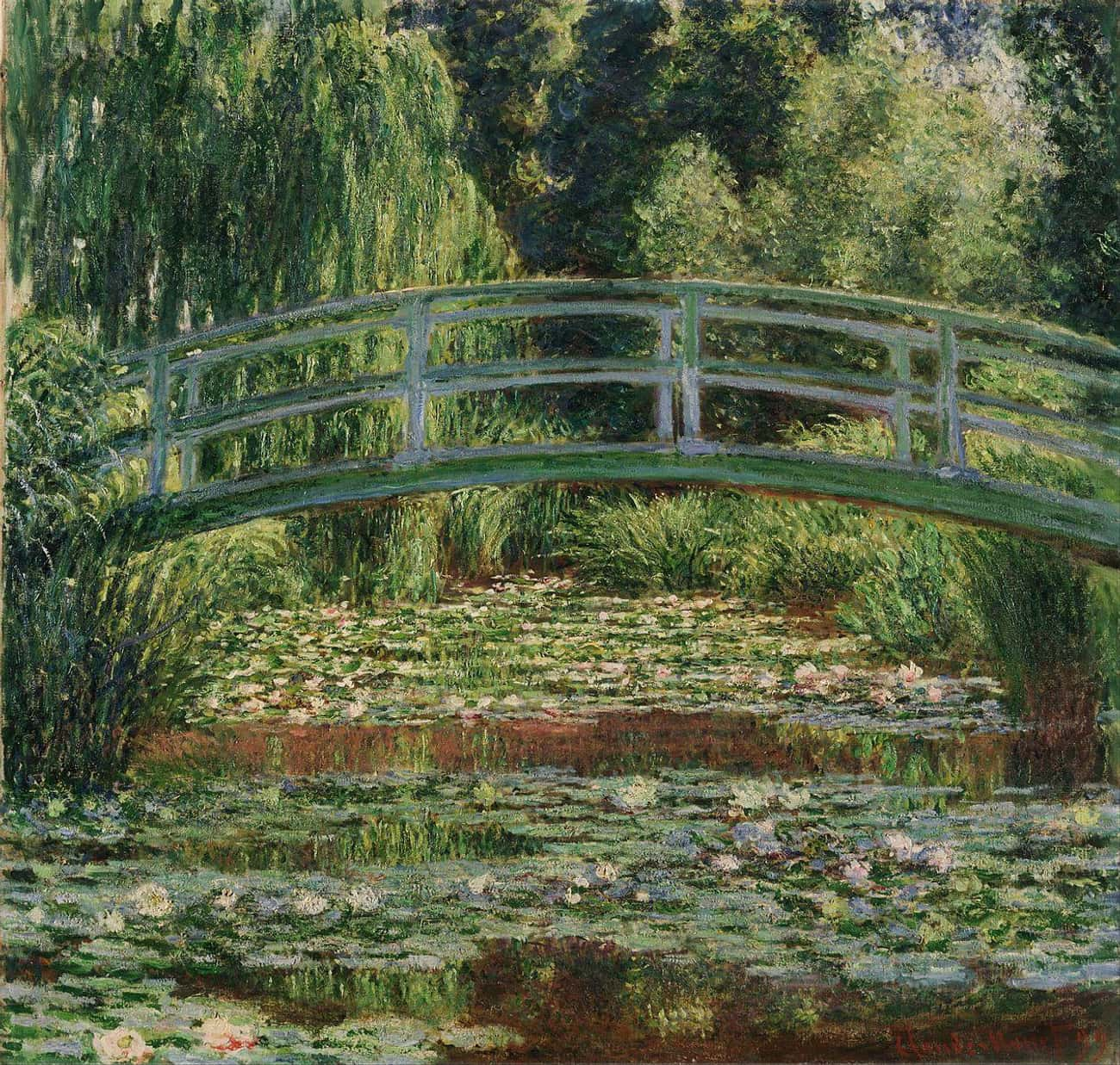 The Japanese Footbridge and th is listed (or ranked) 3 on the list The Best Paintings Of All Time